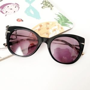Ted Baker Black Tortoise Shell Cat Eye SunGlasses